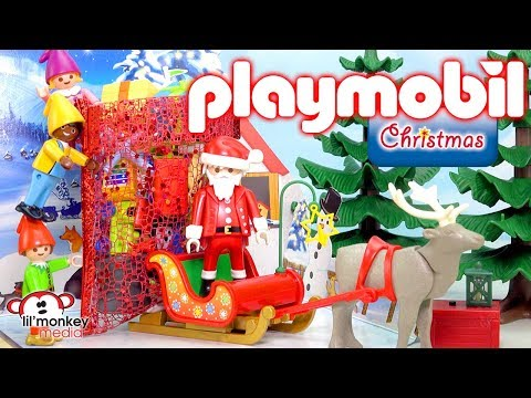 Playmobil Holiday Christmas Advent Calendars 2017! Santa's Workshop & More 3 Full Calendar Openings!