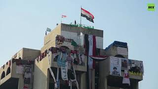 14-storey tower block turned into demo HQ by Baghdad protesters
