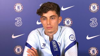 Kai havertz first full press conference as he's unveiled a chelsea player