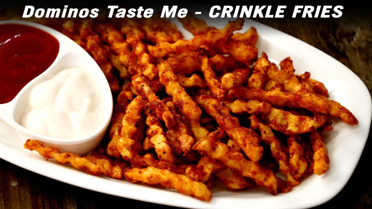 Dominos Taste Me - Crinkle French Fries Recipe - कुरकुरी क्रिन्कल फ्राइज CookingShooking