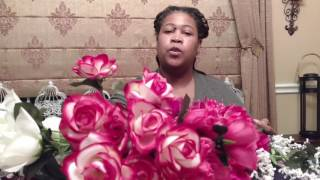 DIY Dollar Tree Wedding Floral Pedestal Arrangement