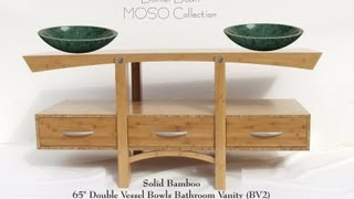 Custom Solid Bamboo Bathroom Vanities - Custom Bathroom Vanity - Ship Nationwide