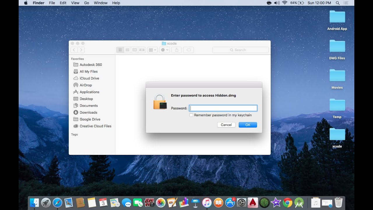 Password Protect files on a Mac