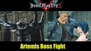 Artemis Boss Battle And Nero Saves Lady - Devil May Cry 5