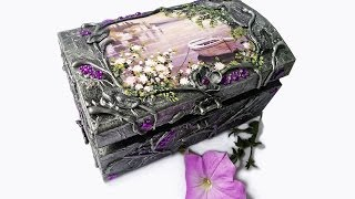 Hand Decorated Jewelry Boxes With Decoupage And One Stroke Painting .collection 2