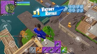 Fast Fortnite Mobile Builder On iPhone / 240+ Wins / Give Away At 275 Sub / 1v1 And Playing With Sub