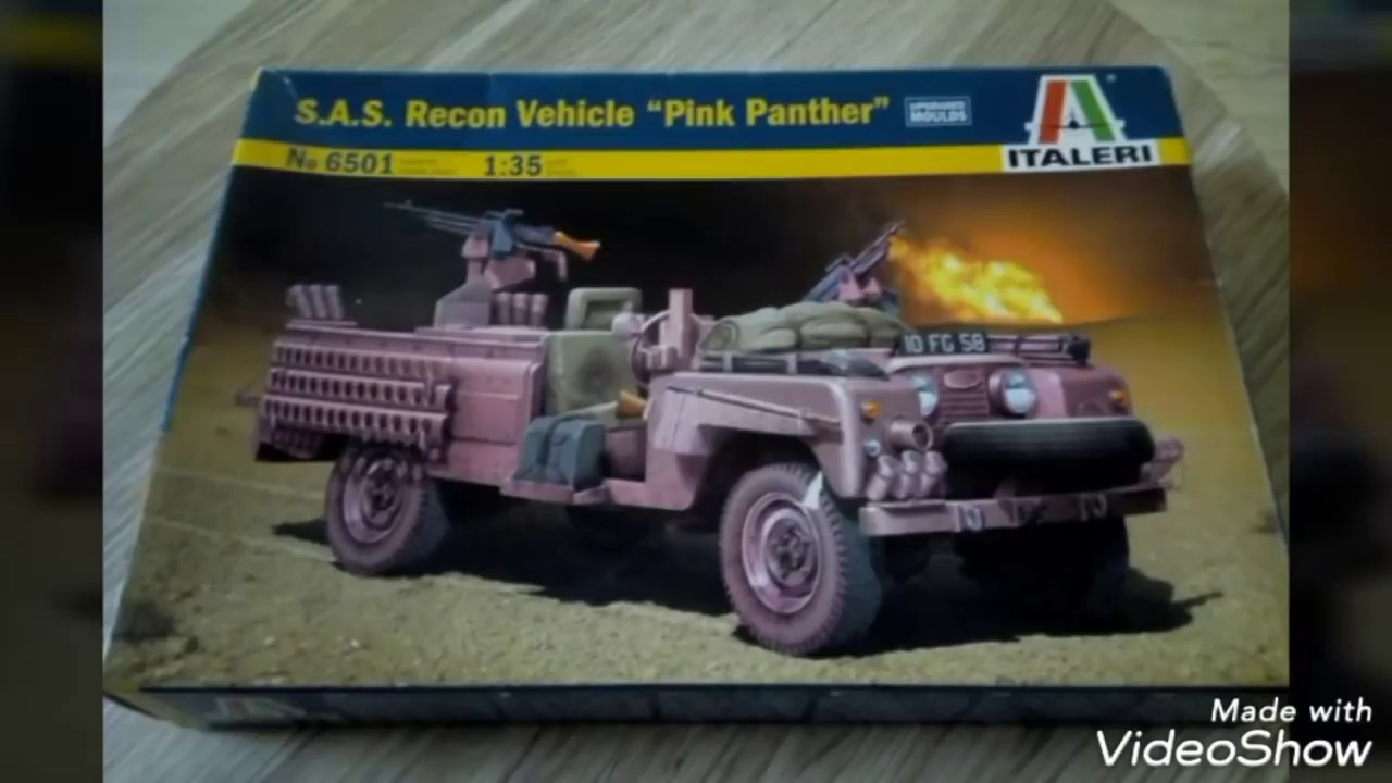 Italeri 1//35 S.A.S Recon Vehicle Pink Panther Plastic Model Kit 6501