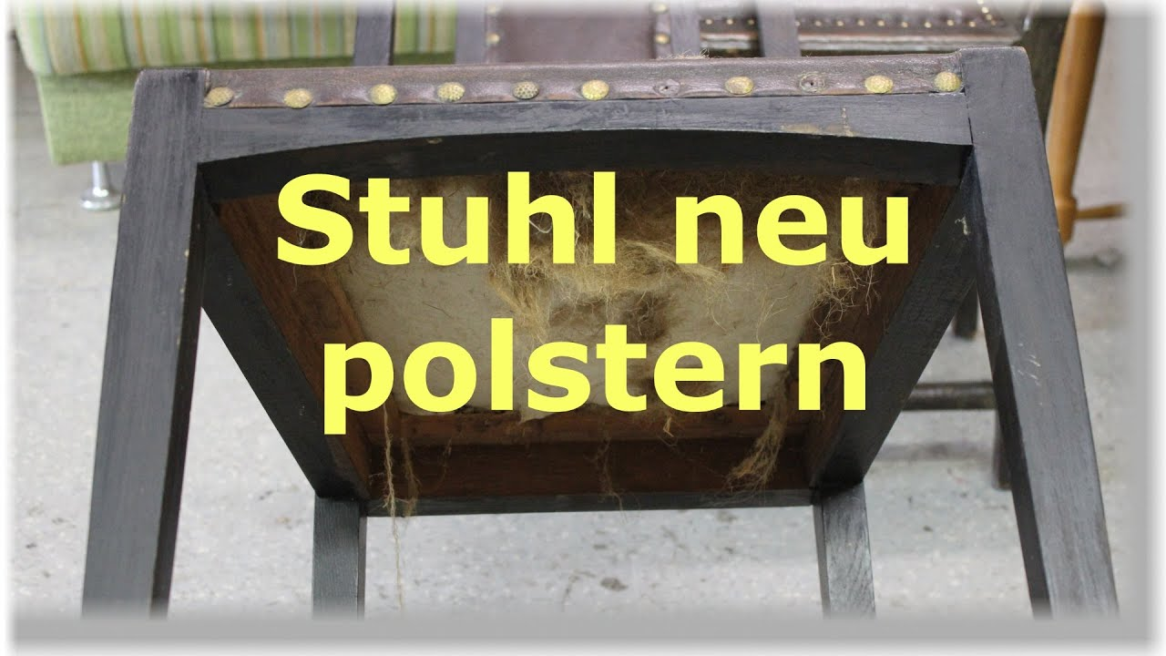 einen stuhl mit leder neu beziehen polstern restaurieren youtube. Black Bedroom Furniture Sets. Home Design Ideas