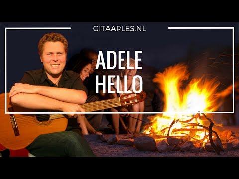 Adele Hello Gitaar Leren Spelen Akkoorden Tutorial