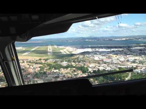 Landing @ Aéroport Marseille Provence cockpit view