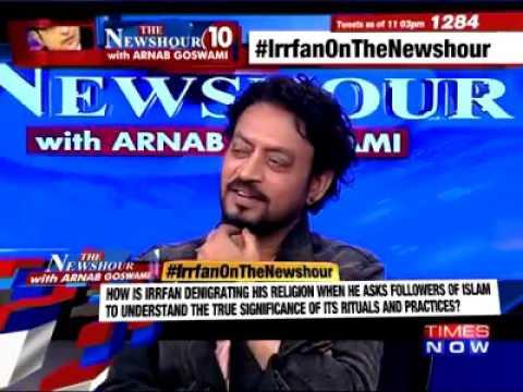 Irfan Khan Shut Mouth Of Mualvi In Thenewshour with arnab goswami times now