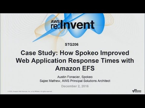 AWS re:Invent 2016: Case Study: Spokeo Improved Web Application Response Times with EFS (STG206)