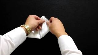 Learn How To Fold a Pocket Square The Wave Fold