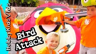 Angry Birds + Red Bird Chainsaw Toy Attack Home Depot Behind And Cut Scenes Hobbykidsvids