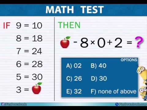 Find Apple & Solve Equation - Genius Viral Maths Puzzle - YouTube