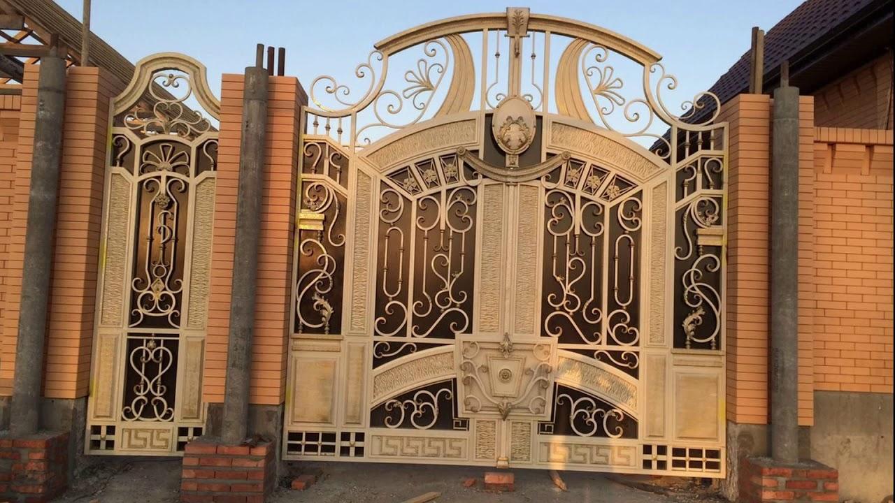 выглядит фото самые красивые ворота для дома чечни статье