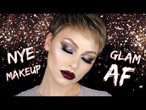 GLAM AF Glitter Eye NYE Makeup Tutorial 2017 | Alexandra Anele thumbnail
