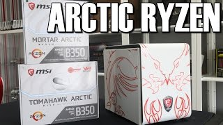 MSI B350 Tomahawk & Mortar Arctic White Ryzen Motherboard Review