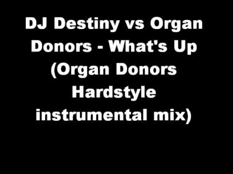 DJ Destiny vs Organ  Donors - What's Up  (Organ Donors  Hardstyle  instrumental mix)