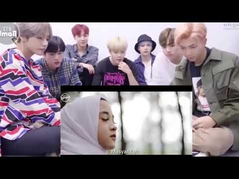 Reaksi Orng Korea (BTS) Melihat NISSAN SABYAN Menyanyi Lagu  MAULANA