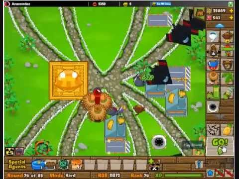 Btd5 co op on spider map hard youtube