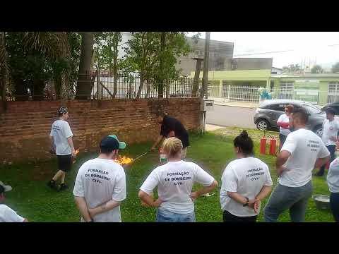 Treinamento bombeiro civil vacaria
