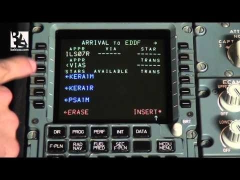 Baltic Aviation Academy: Tutorial of Multi Control Display Unit on Airbus A320