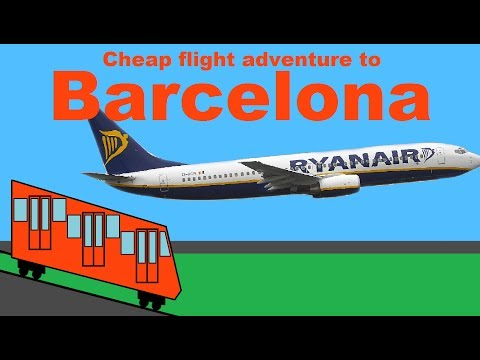 Cheap flight adventure to Barcelona