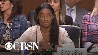 Simone Biles testifies to Congress about