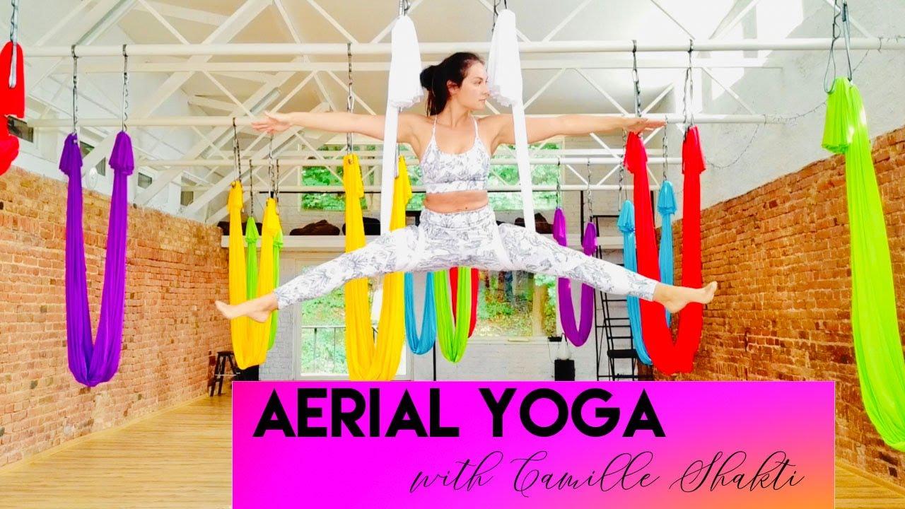 Aerial Yoga with Camille Shakti 2018 | CamiYoga Ore | Oro joga | CamiyogAIR