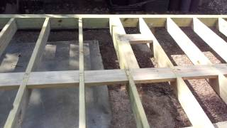 Building A Sturdy Workshop Shed - Oct. 27, 2014 - Framing Foundation