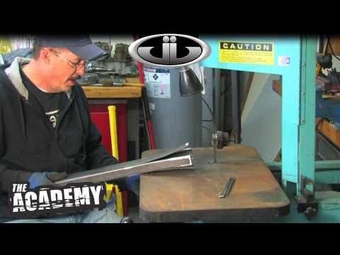 DIY How-to Metal Fabrication Project - band saw, welding, grinding