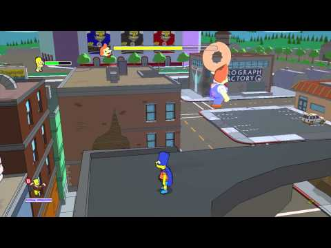 The Simpsons Game (Xbox 360) ~ Level 8: Shadow of the Colossal Donut (Collectables)