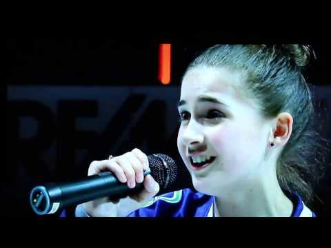 Vancouver Canucks vs Philadelphia Flyers Anthem Singing by Elizabeth Irving
