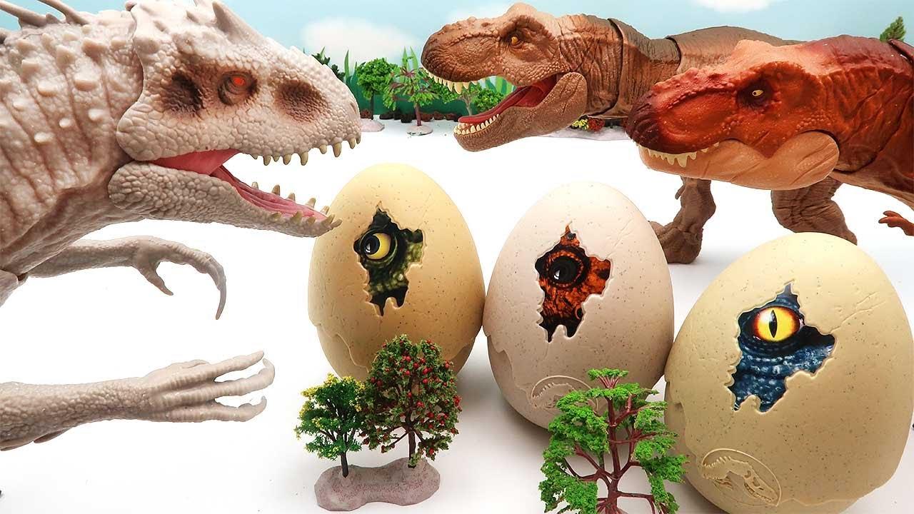Jurassic World Dinosaur Egg Hatching With Indominus Rex