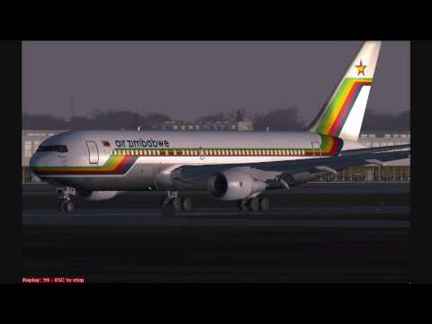 FS2004 AIR ZIMBABWE 767-200ER TAKE-OFF GATWICK (Available in HD)