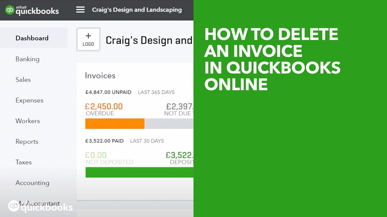 How To Delete An Invoice In QuickBooks Online YouTube - How to delete an invoice in quickbooks