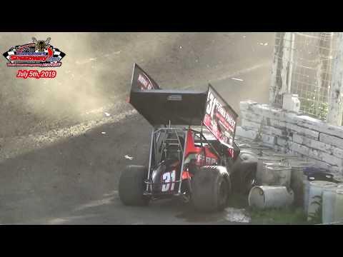 River Cities Speedway NOSA Sprint Car Heats (7/5/19)