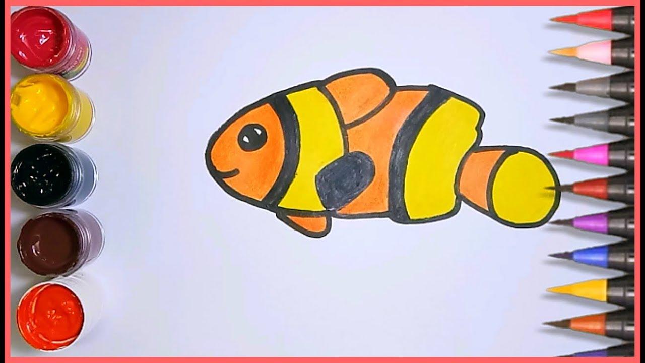 contoh gambar mewarnai gambar ikan badut
