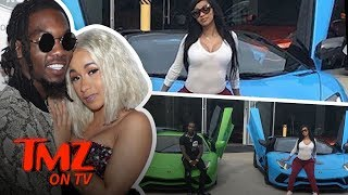 Cardi B & Offset Have Matching Lambos! | TMZ TV