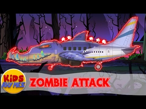 Thumbnail: Zombie Attack | Scary Plane Coloring Video | Video For kids | Colors book For Kids| Toy Aero Plane