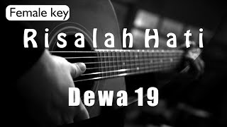 Risalah Hati - Dewa 19 Fourtwnty Version Female Key ( Acoustic Karaoke )
