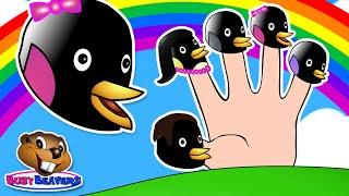 Finger Family Penguin Puppets | Learn, Sing Along & Have Fun, Easy Children's Video Pop Song