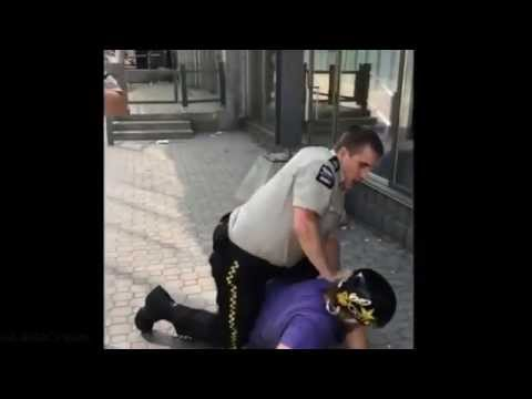 BMX Rider Punches Security Guard [GRAPHIC,BLOOD]
