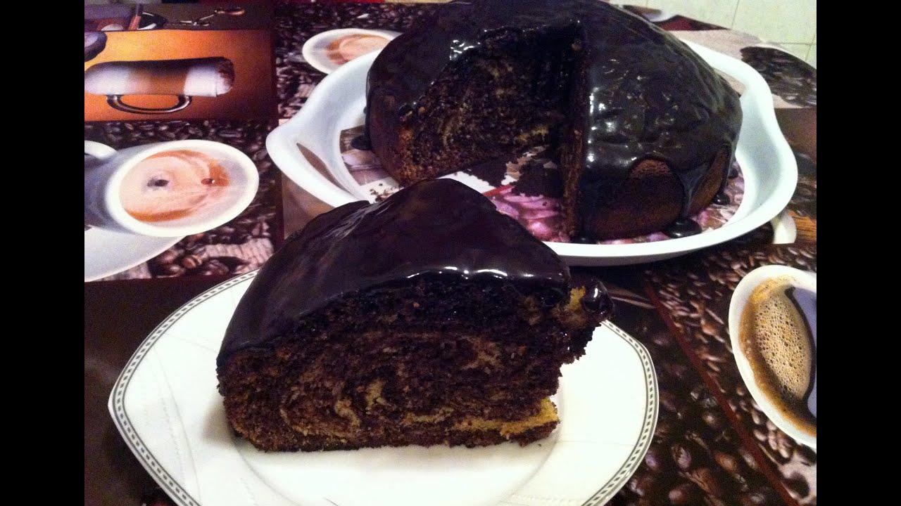 Пирог Зебра с Шоколадной Глазурью / Торт Зебра / Zebra ...