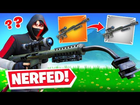 So Epic NERFED The Heavy Sniper In Fortnite!