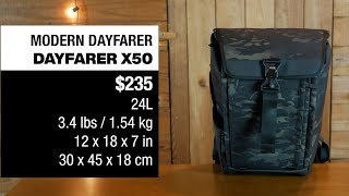MODERN DAYFARER X50 EDITION 4 BACKPACK: for hiking, EDC and the gym