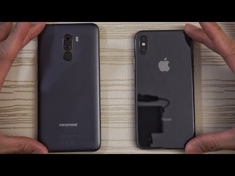 Pocophone F1 vs iPhone X - Speed Test! What Will Happen?!