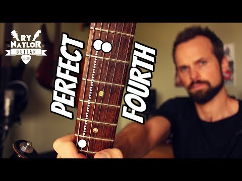 perfect 4th guitar interval - learn the shapes on the fretbotard
