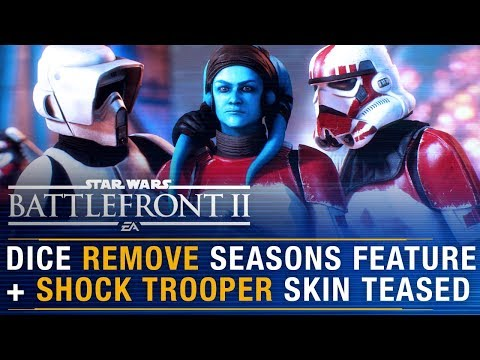 DICE REMOVE Seasons Feature + Imperial Shock Trooper Skin Teased?  | Battlefront Update